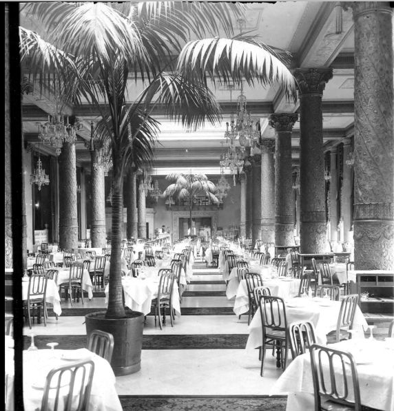 Interior of the dining room at the drake hotel 1930 for 1930s hotel decor