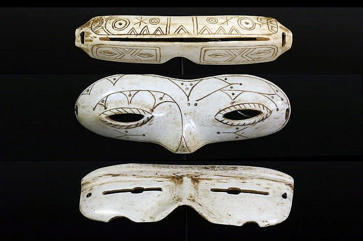Buy online, view images and see past prices for three Alaskan Inuit gogles in whalebone with good patina and two with nice. Invaluable is the world's largest marketplace for art, antiques, and collectibles.