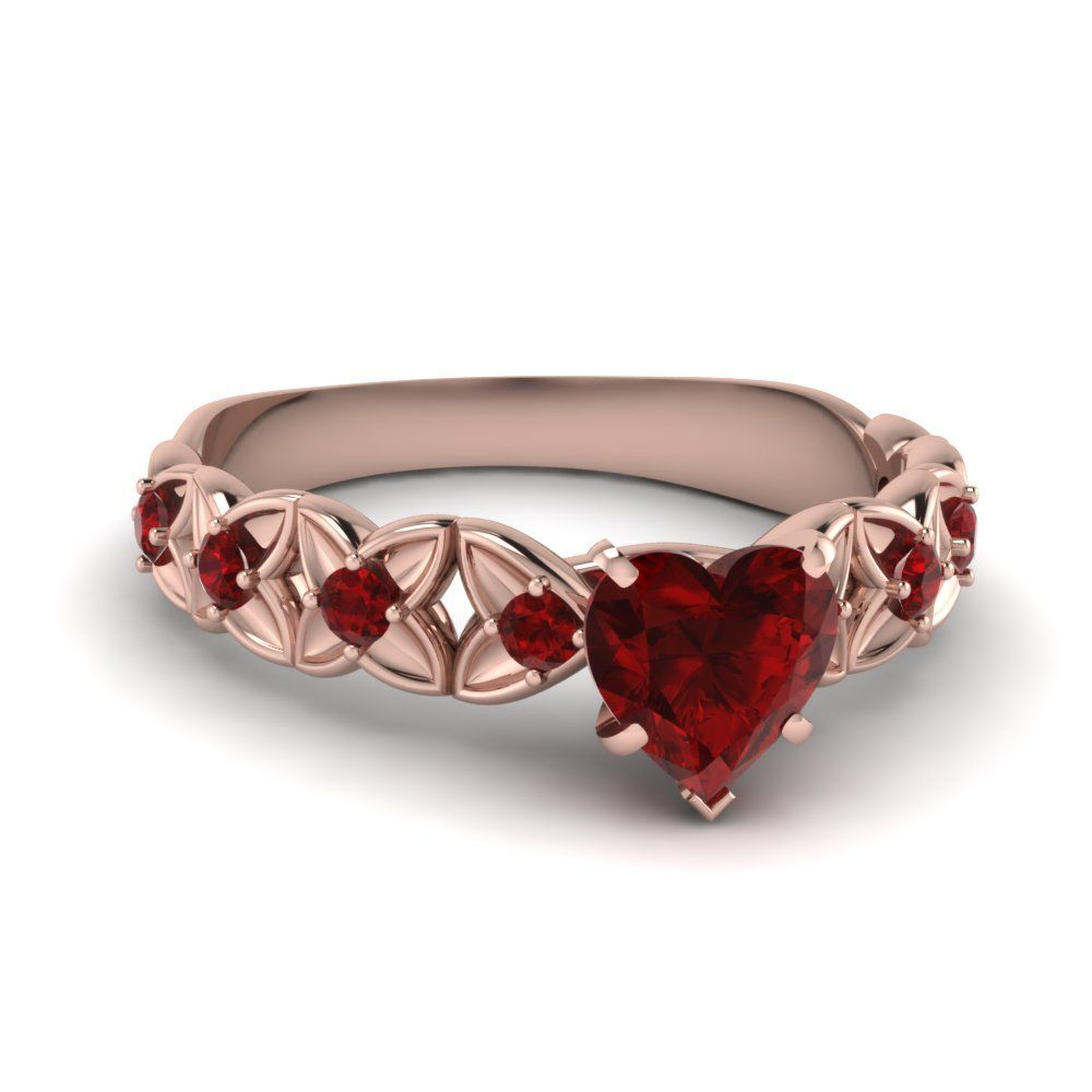 Heart shaped ruby engagement rings jewelry pinterest rings
