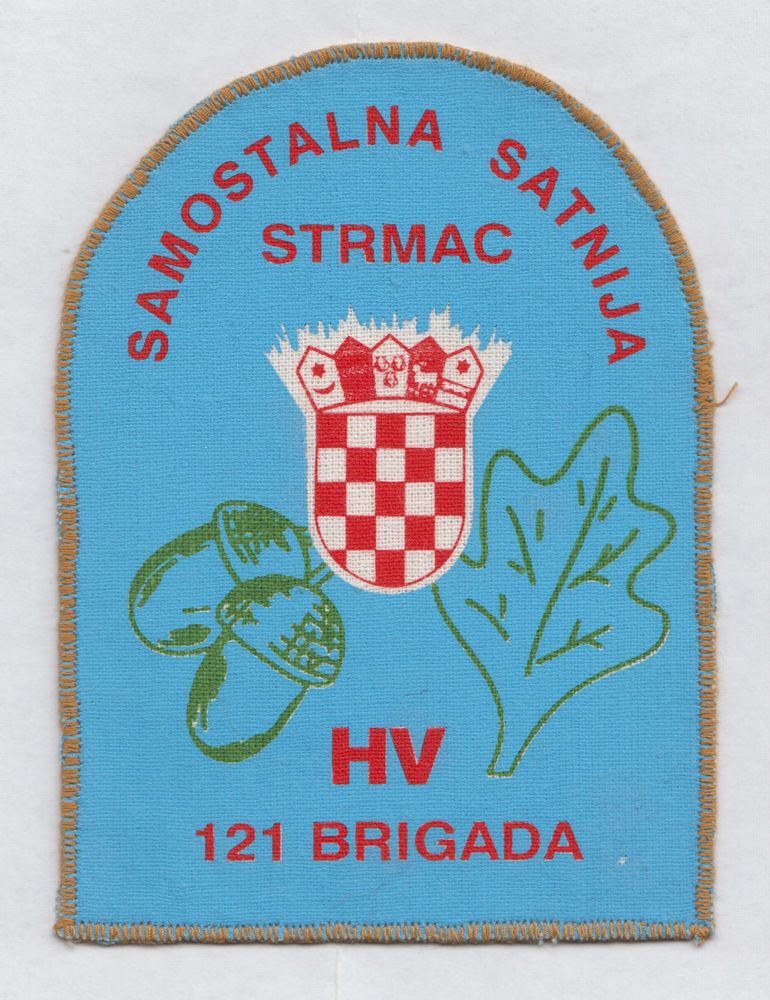 CROATIA ARMY- HV  INDEPENDENT SQUAD STRMAC - 121st BRIGADE  rare patch from 1991