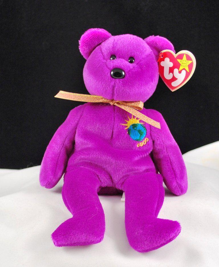 509296b67ae Retired Ty Beanie Baby Millennium Bear  4226. Date of Birth  January ...