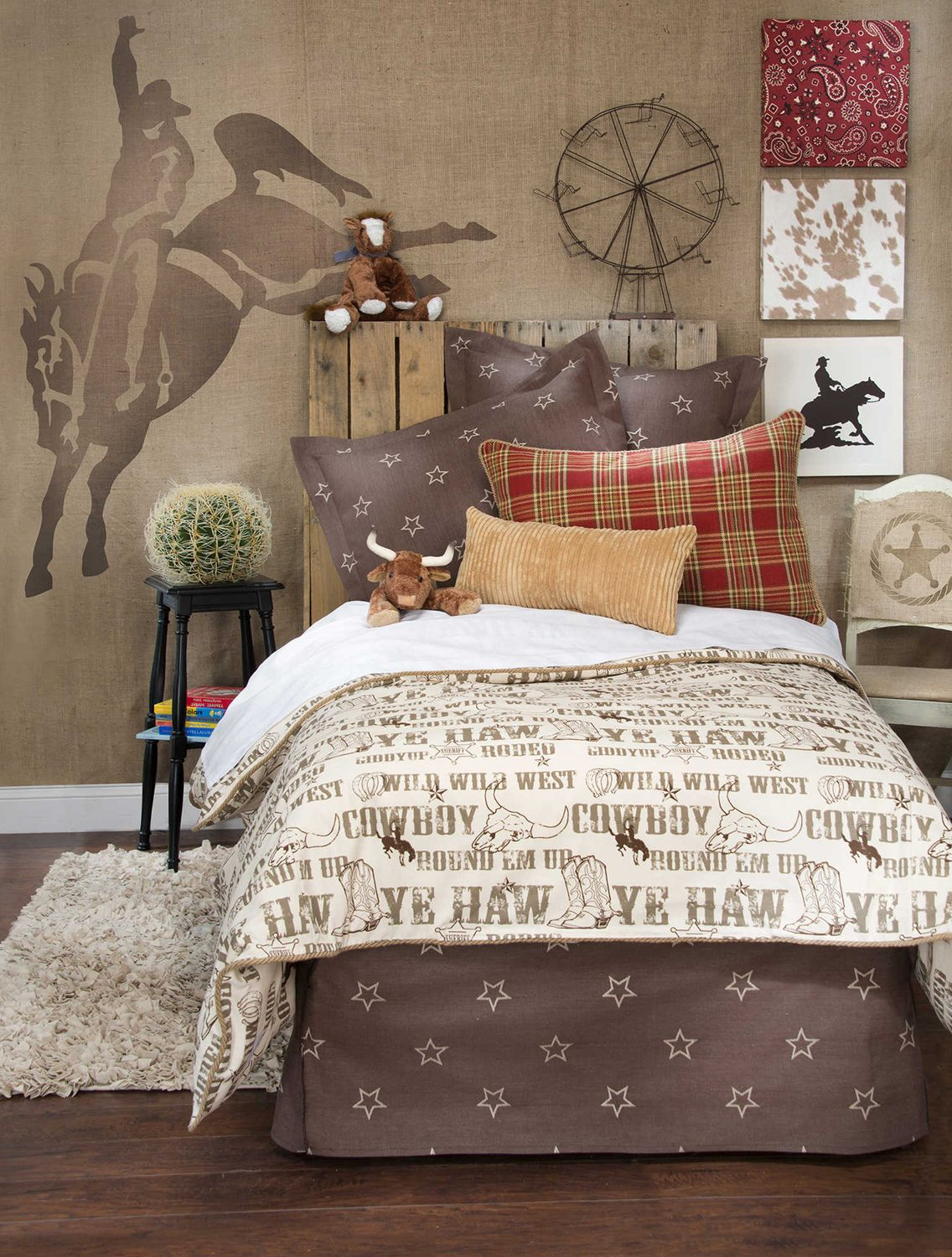 Novelty Cowboys & Wild West Indians Reversible Cotton Blend Duvet Cover Set Bedding