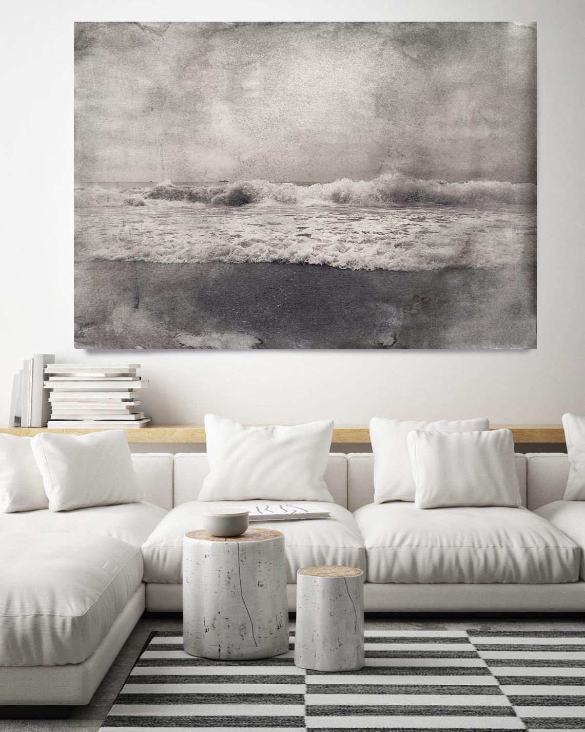 Wave 2 Beach Decor Ocean Wave Print Coastal Wall Canvas Art
