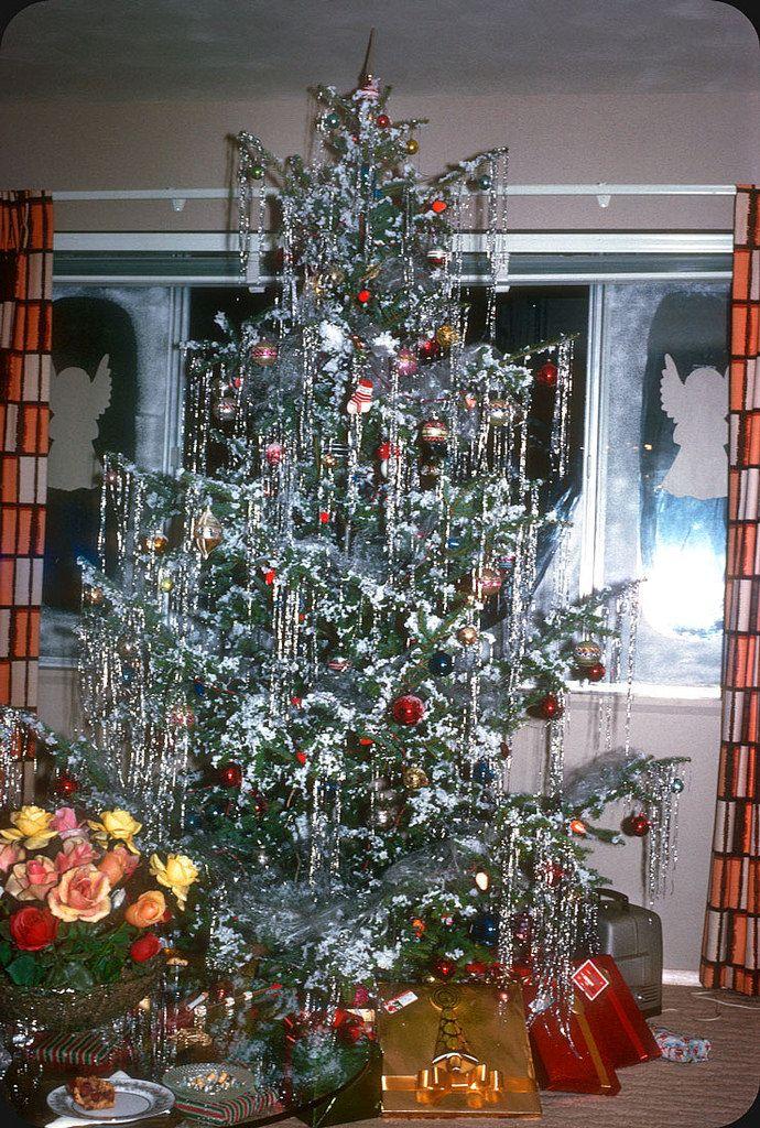 Vintage Christmas Tree 1963 By Electrospark Old Fashion Christmas Tree Vintage Christmas Tree Vintage Christmas Photos