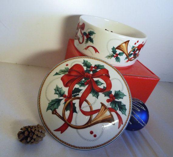 Vintage Mikasa Candy Dish/ Christmas Magic/ In by JJsBottega
