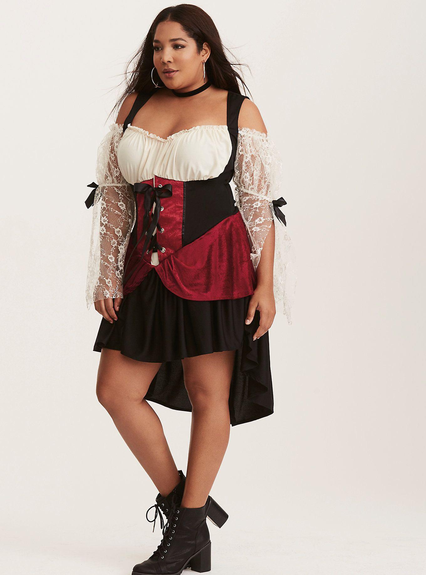leg avenue halloween wicked wench dress costume | torrid (plus size