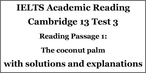 IELTS AC Reading: Cambridge 13 Test 3