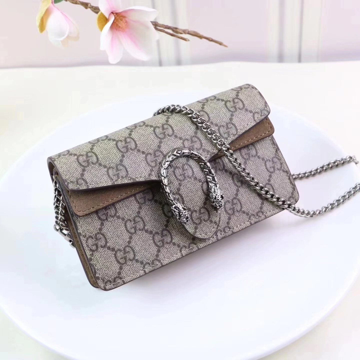 895a9a1296 Replica GUCCI Dionysus GG Supreme super mini bag Women ID:34292 $94  #replicahandbags