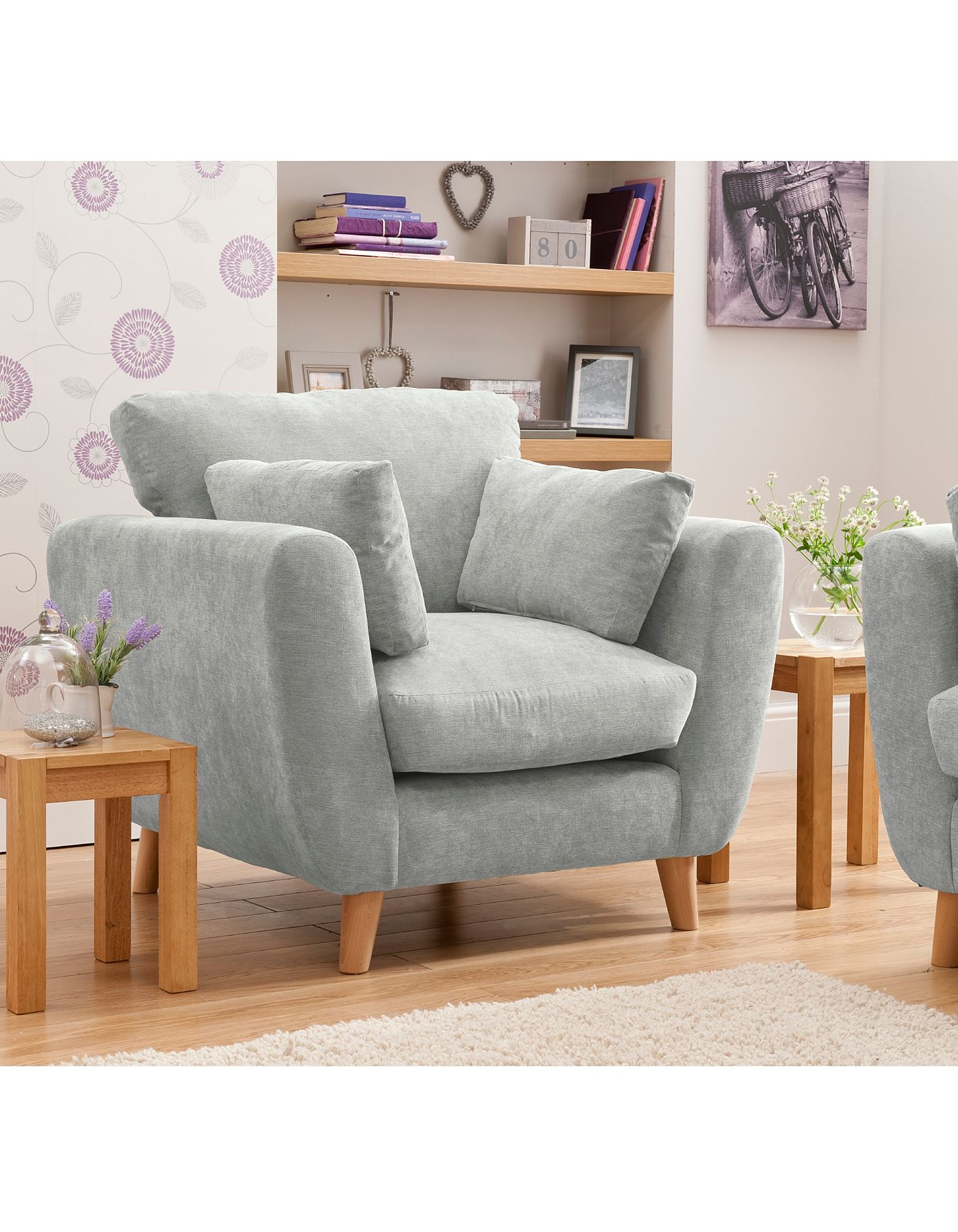 Sloane Armchair in Green | Sofas & Armchairs | ASDA direct | Dining ...