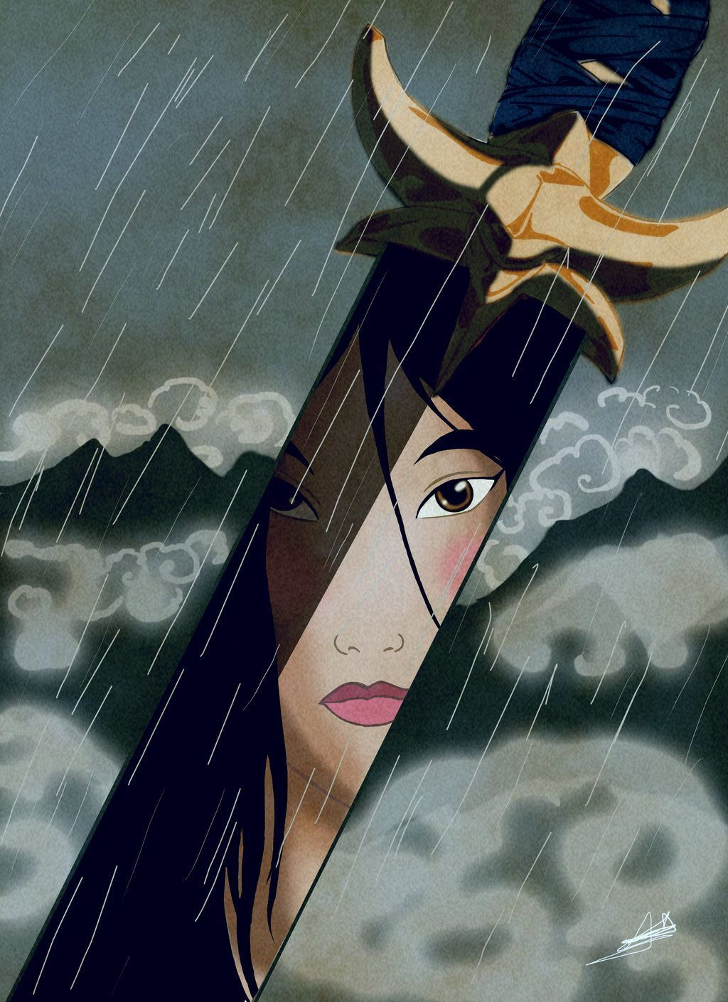 Day Bravest Princess: I'd have to say Mulan.) In honor of Mulan's anniversary // Movie Friday: 15 Artist Recreations of Disney's Mulan