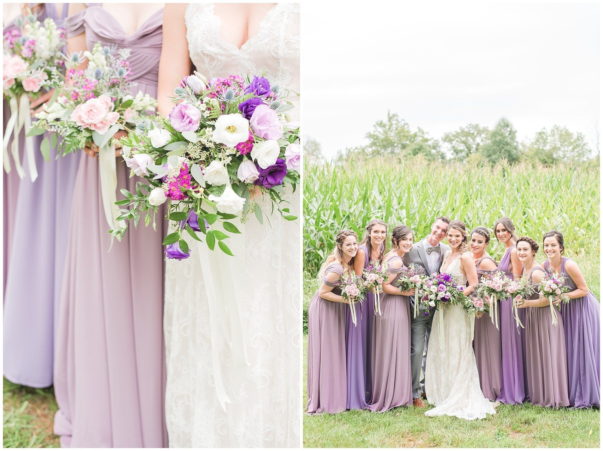 Anna James Grey Purple Wedding Wedding Purple Wedding Bouquets