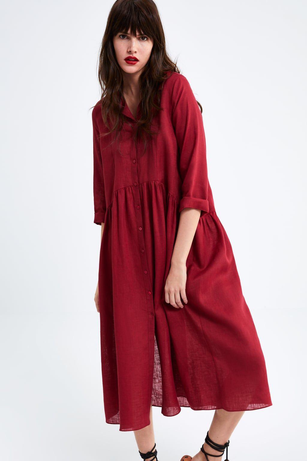cb83a0d8c0 Long linen dress in 2019   wear   Linen dresses, Zara dresses, Dresses