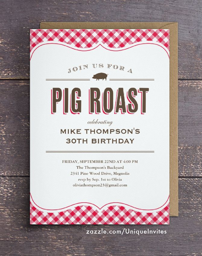 pig roast table cloth invitations bbq invitations pinterest