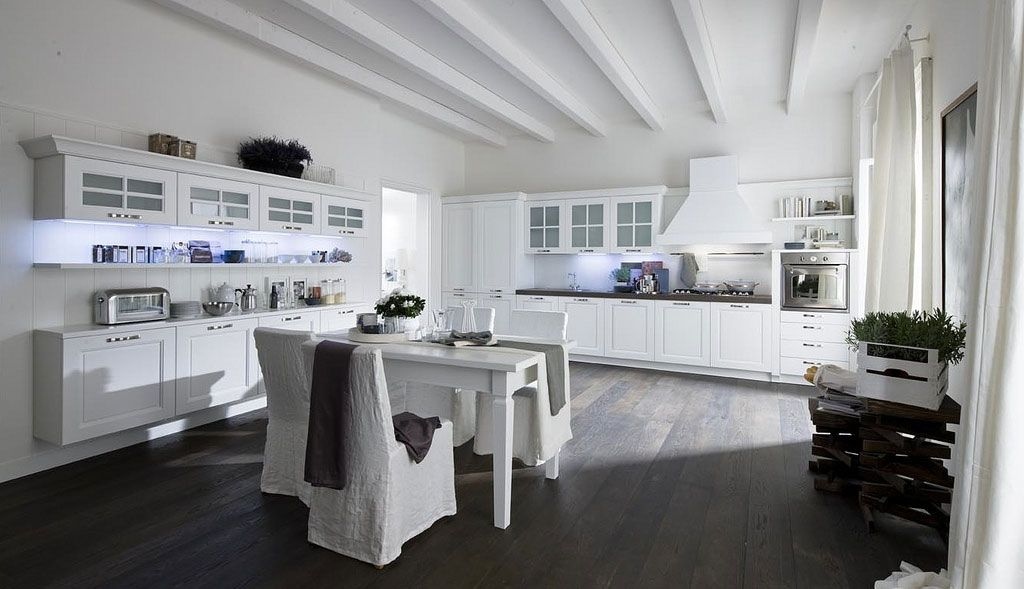 Armando Ferriani Clean Open Kitchen Designs with traditional antique elements