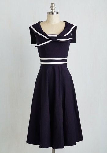 1940s Style Dresses, Fashion & Clothing | Nautical dress ...
