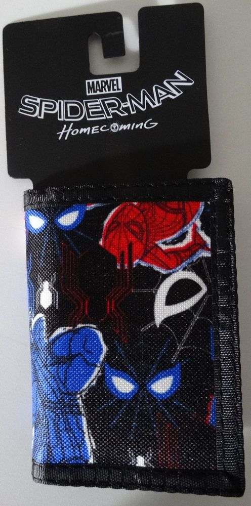 Marvel Comics Multi Iron Man Spider man Trifold Wallet in collectable tin Boxed