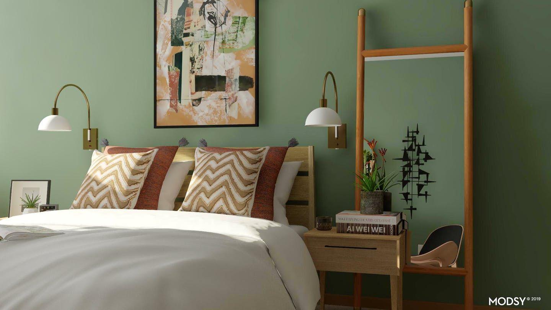 Earth Tone Mid-Century Modern Bedroom | Mid-Century Modern ...