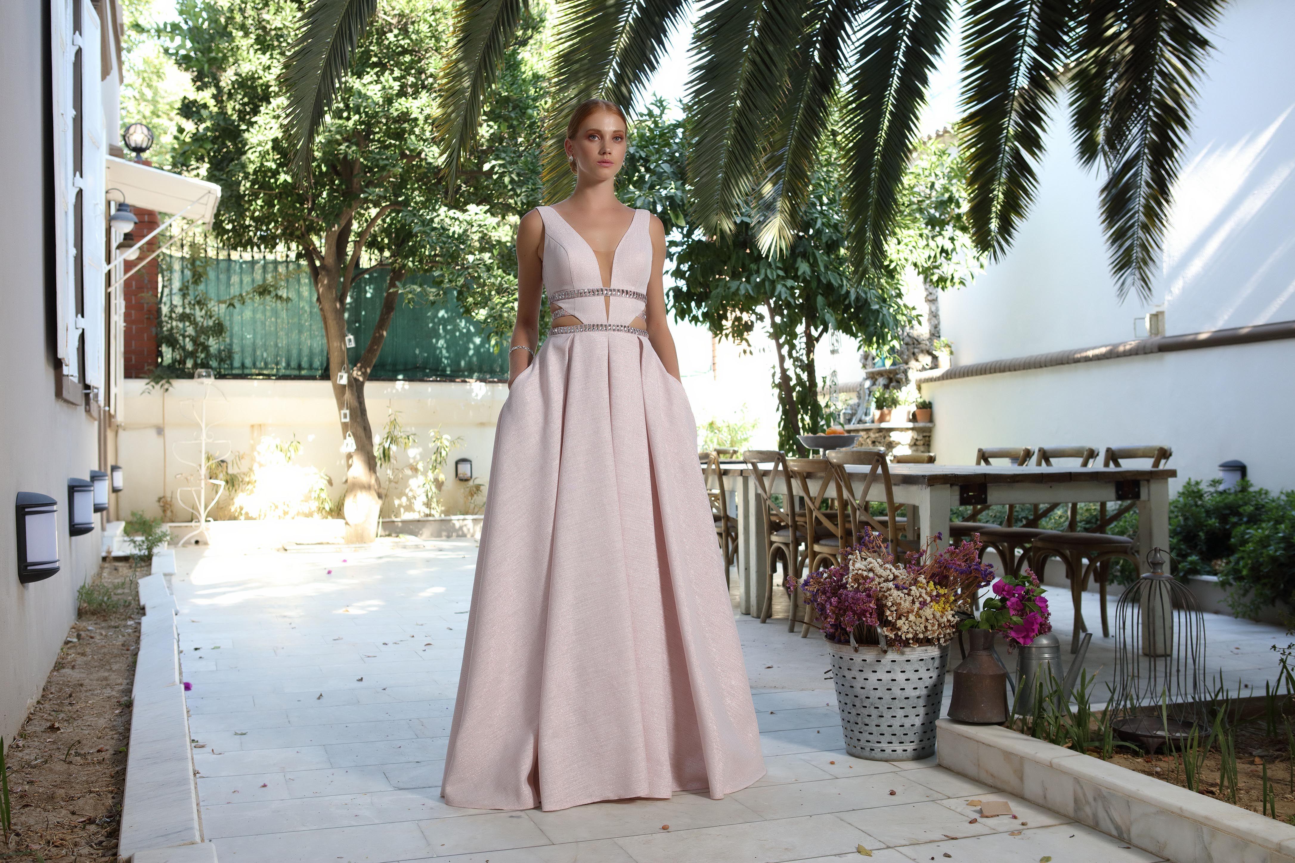 Evening dress code pink eveningdress dress women blush