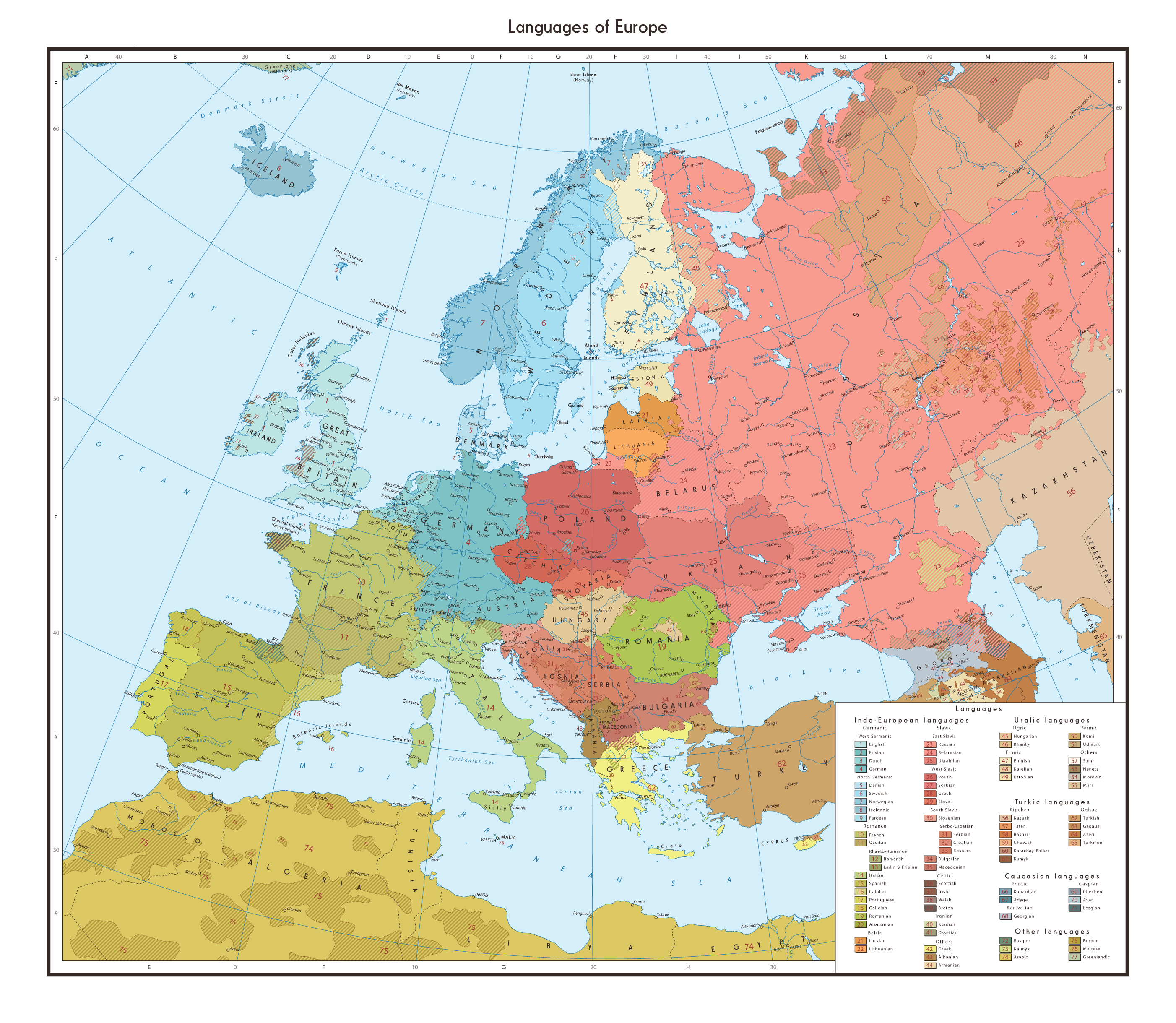 Ethnic Map Of Europe Ethnic and Linguistical Map of Europe | Europe | Map, Historical