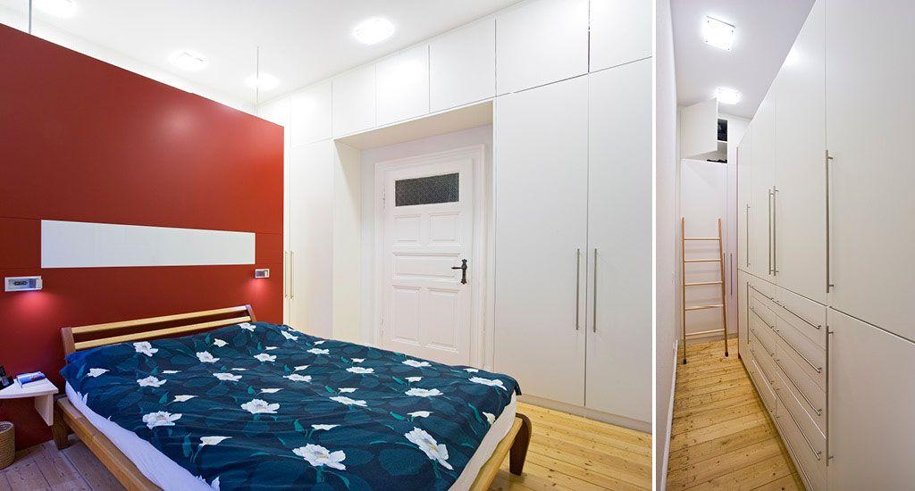 Kleiderschrank und Einbauschrank in Weiß lackiert mit Holz und nach ...