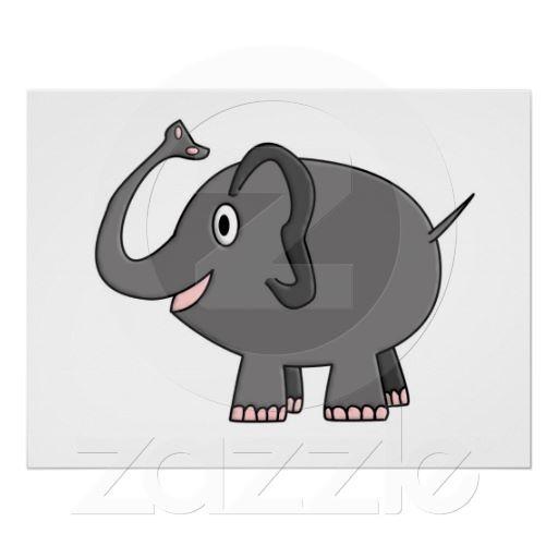 elephant poster 16 x 20 $13.40