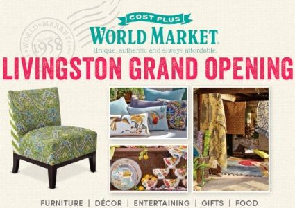 MommyFactor Cost Plus World Market Is Opening A Store In Livingston New Jer