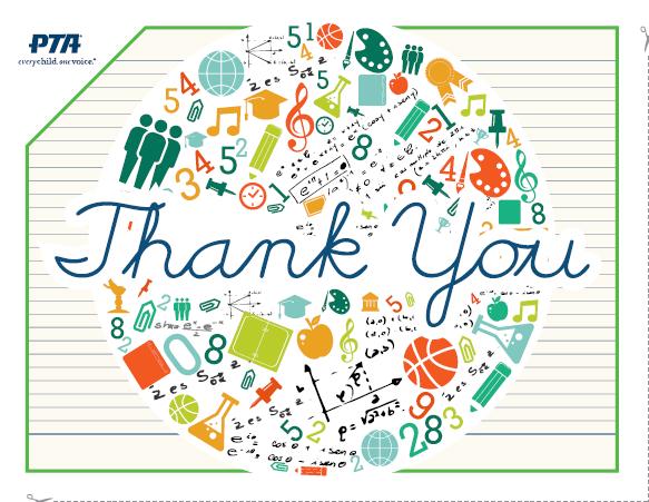 Write a thank you card to teacher