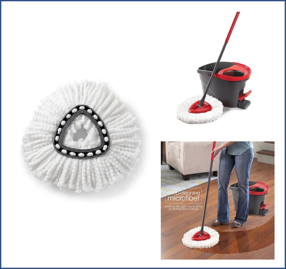 Mopping O Cedar Easy Cleaning Wring Spin Mop Refill Mop