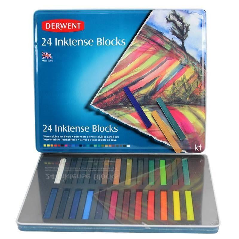 Derwent Inktense Block Tin Set of 12