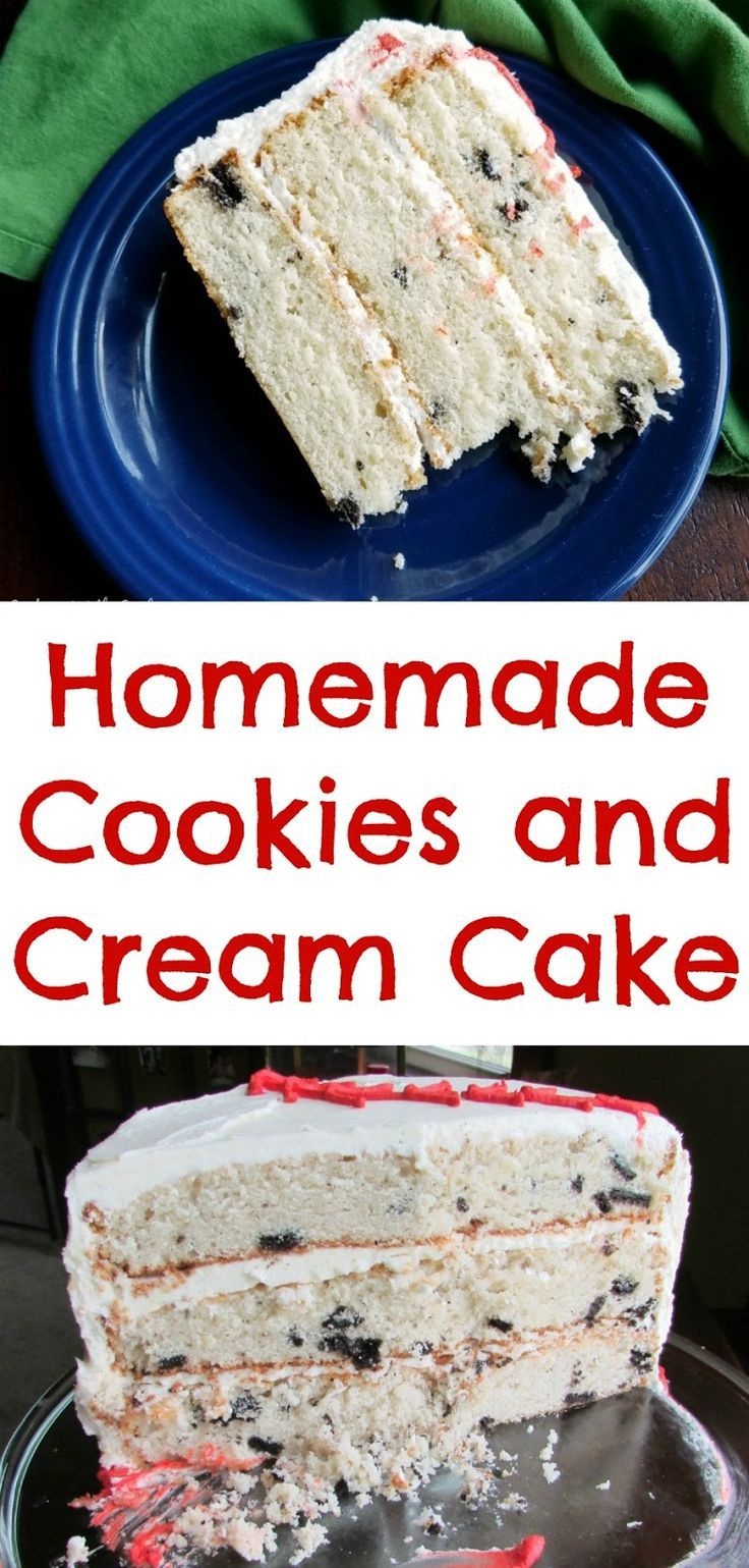 Three layers of cookies and cream cake goodness.  This homemade recipe is easier to make than you think!