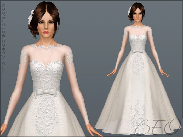 Wedding dress 28 by beo donation sims 3 downloads cc for Donate wedding dress cancer