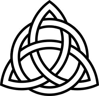 I had this on my wedding dress on the train! celtic symbol ...