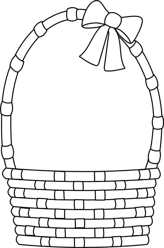 Pin On Easter Basket With Eggs Coloring Page