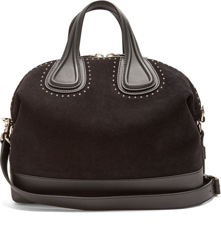 5064eb0548 GIVENCHY Nightingale embellished suede and leather tote