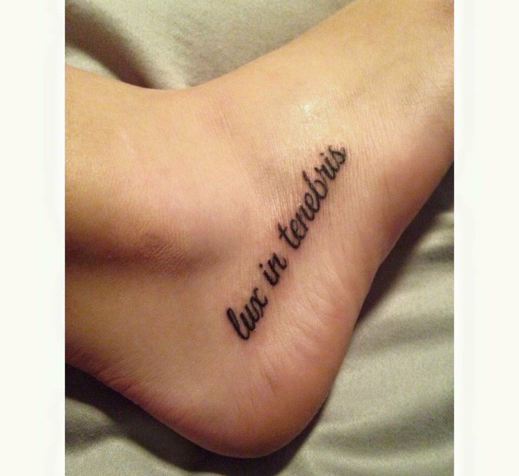 """Tattoo Needle Quotes: Means """"light In Darkness"""""""