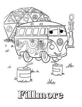 Car Fillmore Coloring Page To Print