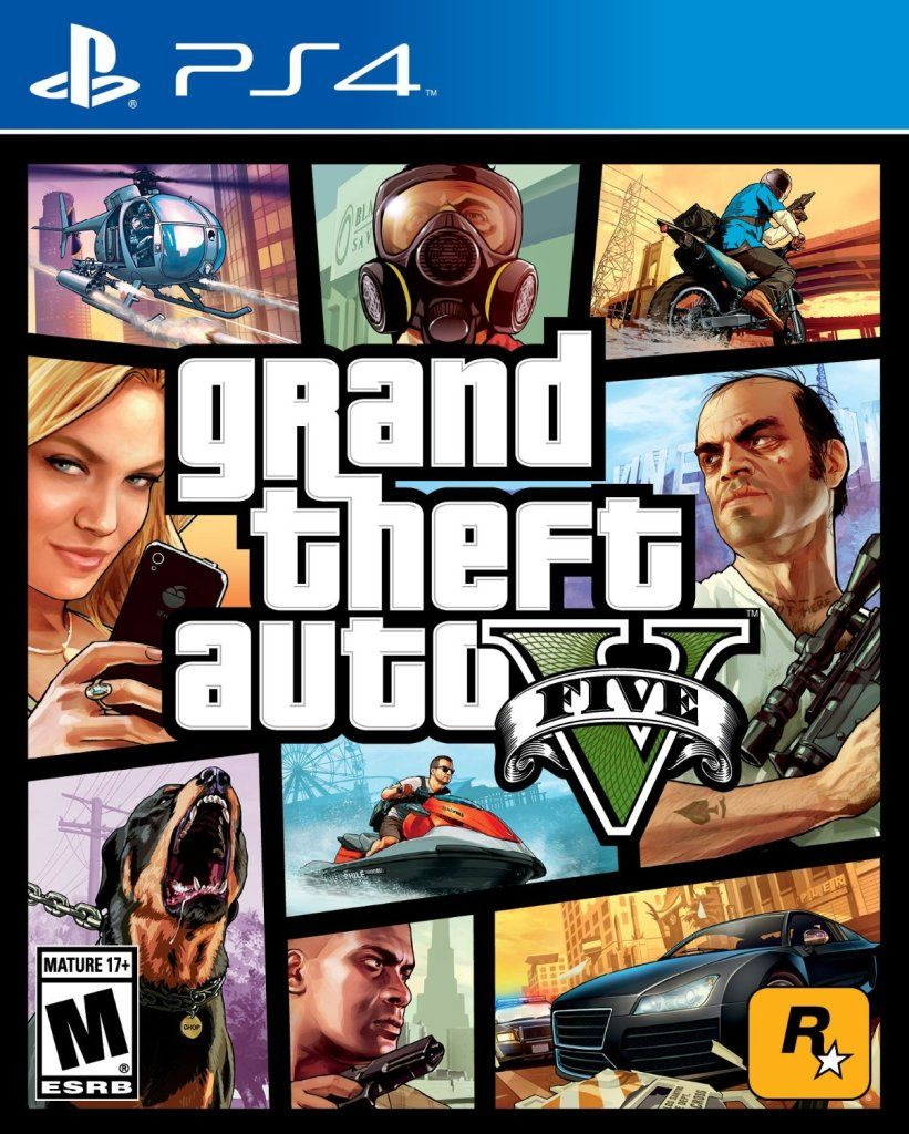 Grand Theft Auto V - Playstation 4 - PS4 Cover - #Games #Gaming #PS4 #Playstation4