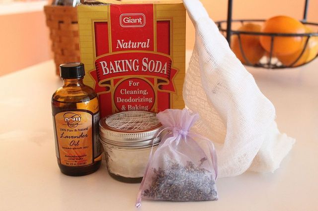 diy air freshener, cleaning tips, Just baking soda essential oil a mason jar and cheesecloth