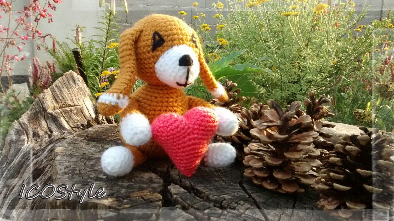 Toys images for kids  Cute Dog chrochet amigurumiHand madefairtrade toyschild toyskids