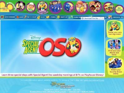 Part of Playhouse Disney - Special Agent Oso  Your toddler