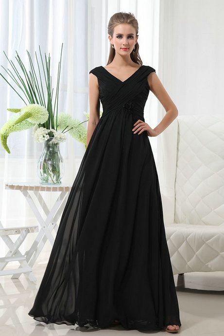 Fabulous Long Black Dresses For Weddings Elegant V Neckline Dress Wedding