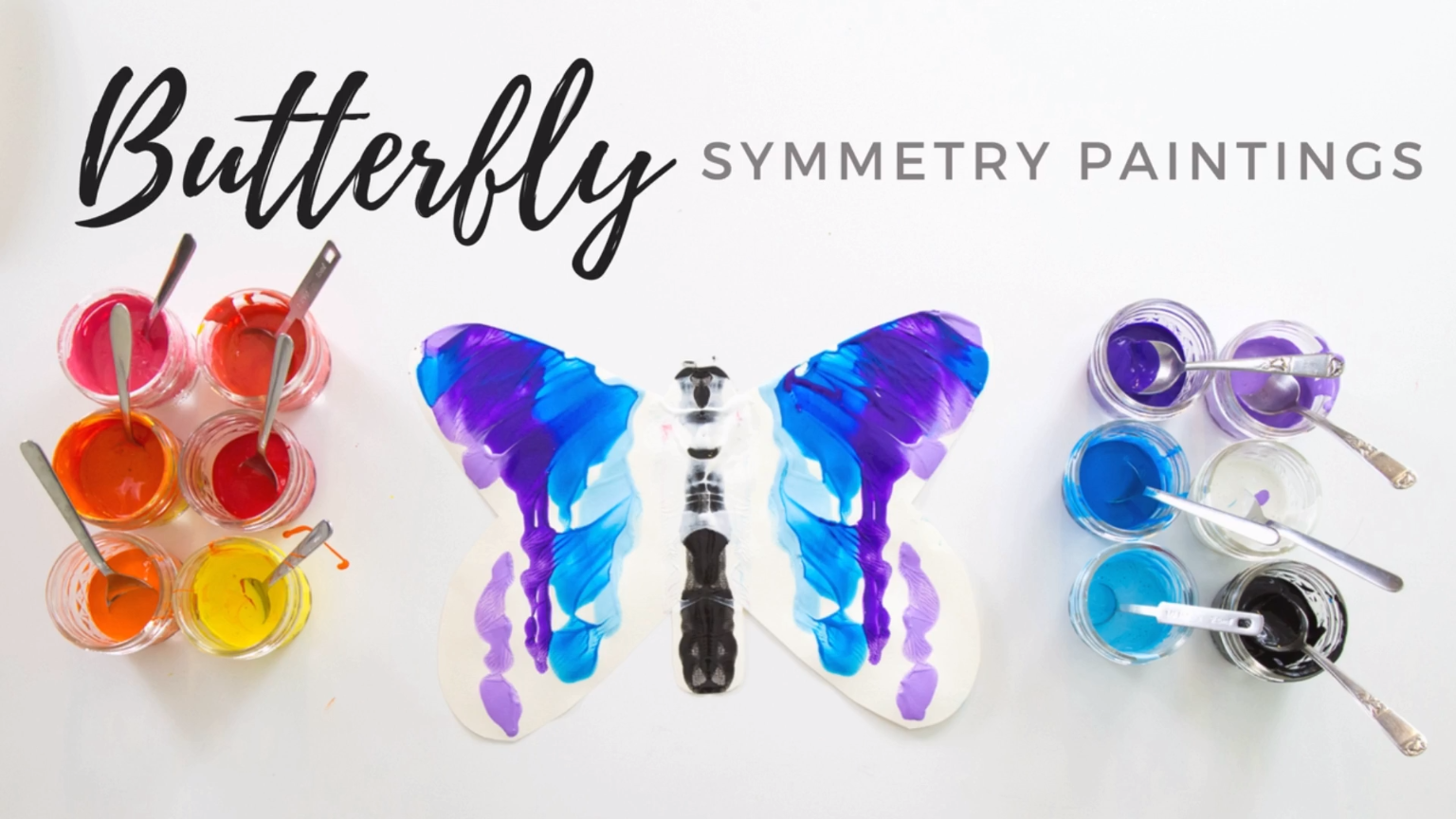 A Fun Way To Make Butterfly Symmetry Paintings