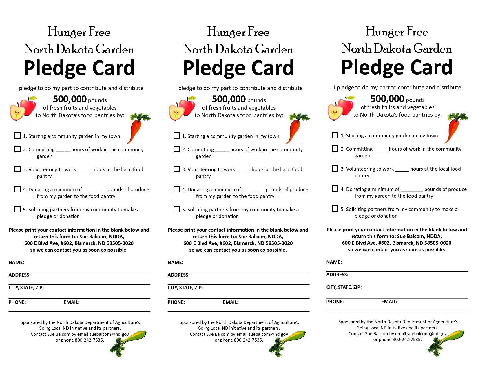 Donation Pledge Card Template Free Pledge Card Template Card Template Free Business Card Templates Business Template