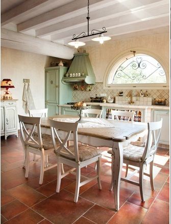 Style provence eat in kitchen...