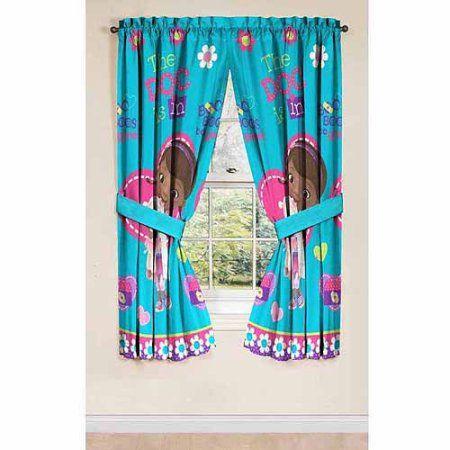 Disney\'s Doc McStuffins Drapery Curtain Panel, Set of 2 | Zions ...
