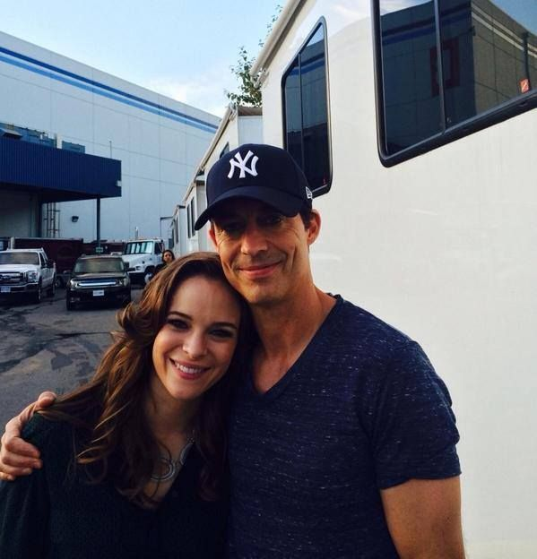 Danielle Panabaker and Tom Cavanagh #TheFlash
