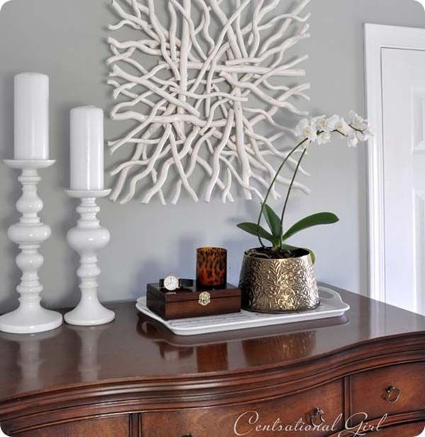 Branch Wall Art 30 diy driftwood decoration ideas bring natural feel to your home
