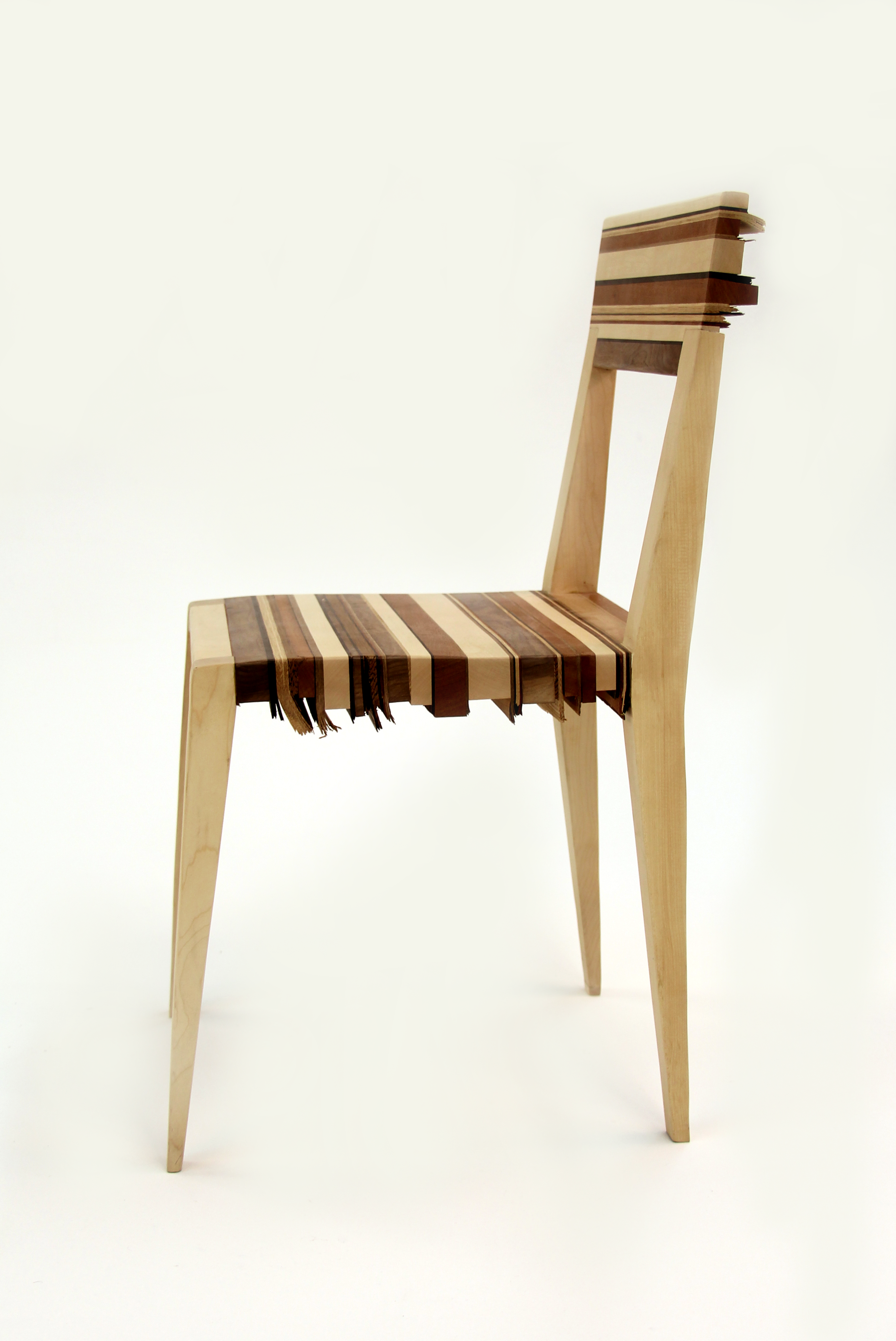 Topographic Chair Made Of Different Types Of Wooden Scraps By Liran Naim Chair Wooden Furniture
