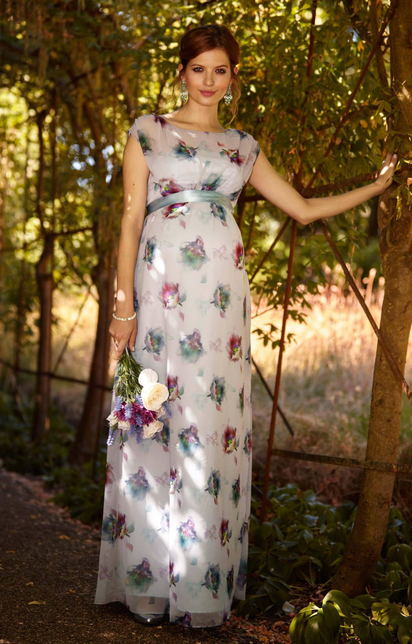 Maya gown long tiffany rose maternity gowns and maya clothing maya maternity gown long dusky floral by tiffany rose ombrellifo Image collections