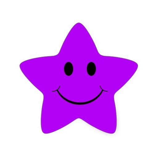 purple star smiley face stickers face stickers smiley and face rh pinterest com Yellow Star Clip Art Purple Shooting Star Clip Art
